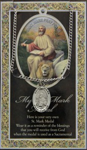 St. Mark Medal in Pewter with Bi-Fold Prayer Card [HPM037]