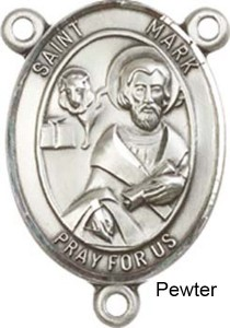 St. Mark the Evangelist Rosary Centerpiece Sterling Silver or Pewter [BLCR0238]