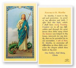 St. Martha Novena Laminated Prayer Cards 25 Pack [HPR490]