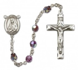 St. Martha Sterling Silver Heirloom Rosary Squared Crucifix [RBEN0292]