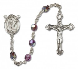 St. Martin of Tours Sterling Silver Heirloom Rosary Fancy Crucifix [RBEN1294]