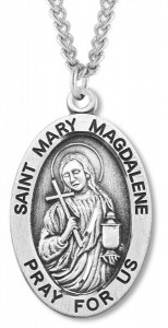St. Mary Magdalene Medal Sterling Silver [HMM1130]