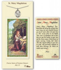 St. Mary Magdalene Medal in Pewter with Prayer Card [BLPCP045]