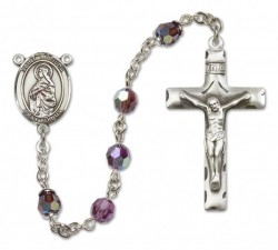 St. Matilda Sterling Silver Heirloom Rosary Squared Crucifix [RBEN0296]