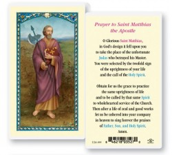 St. Matthias Laminated Prayer Cards 25 Pack [HPR499]