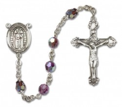 St. Matthias the Apostle Sterling Silver Heirloom Rosary Fancy Crucifix [RBEN1298]