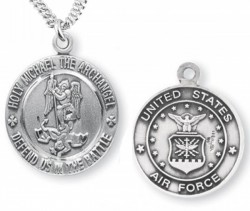 St. Michael Air Force Medal Sterling Silver [REM1005]