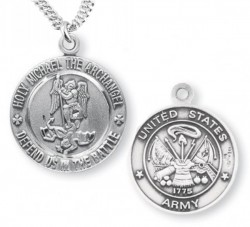 St. Michael Army Medal Sterling Silver [REM1001]