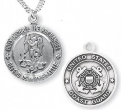 St. Michael Coast Guard Medal Sterling Silver [REM1009]