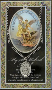 St. Michael  Medal in Pewter with Bi-Fold Prayer Card [HPM006]