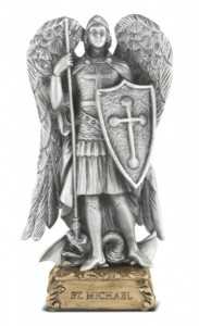 Saint Michael Pewter Statue 4 Inch [HRST330]