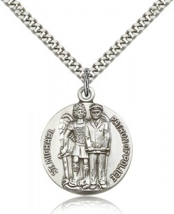 Men's St. Michael Police Officer Medal [BM0802]