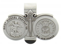 St. Michael U.S. Air Force Visor Clip Pewter [AU1026]