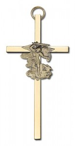 "St. Michael Wall Cross 4"" [CRB0016]"