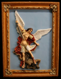 Saint Michael Wall Plaque Marble Composite - 19 inch [VIC4012]