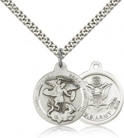 Men's Round St. Michael the Archangel Army Medal [CM2196]