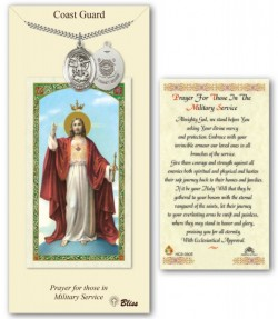 St. Michael the Archangel Coast Guard Medal in Pewter with Prayer Card [BLPCP025]