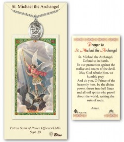 St. Michael the Archangel Medal in Pewter with Prayer Card [BLPCP024]