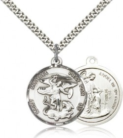 Double Sided St. Michael & Guardian Angel Medal [CM2194]
