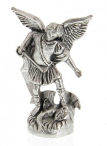 St Michael the Archangel Pocket Statue with Holy Card [HPC001]
