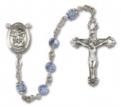 St. Michael the Archangel Sterling Silver Heirloom Rosary Fancy Crucifix [RBEN1302]
