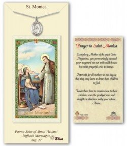St. Monica Medal in Pewter with Prayer Card [BLPCP047]