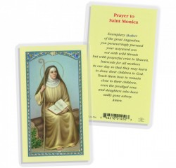St. Monica Prayer Biography Laminated Prayer Cards 25 Pack [HPR506]