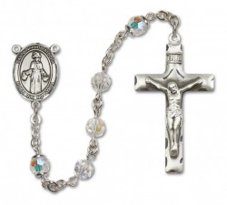 St. Nino de Atocha Sterling Silver Heirloom Rosary Squared Crucifix [RBEN0309]