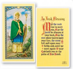 St. Patrick An Irish Blessing Laminated Prayer Cards 25 Pack [HPR643]
