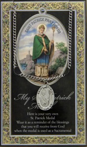 St. Patrick Medal in Pewter with Bi-Fold Prayer Card [HPM061]