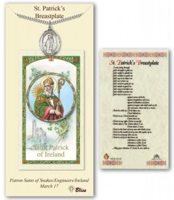 St. Patrick Medal in Pewter with Prayer Card [BLPCP031]