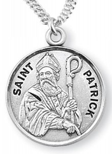 View all saint patrick medal with necklace catholic faith store st patrick medal ree0123 aloadofball Choice Image