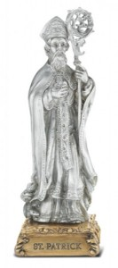 Saint Patrick Pewter Statue 4 Inch [HRST640]