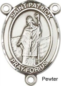 St. Patrick Rosary Centerpiece Sterling Silver or Pewter [BLCR0251]