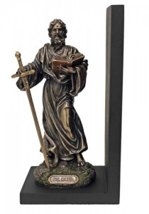 St. Paul Bookend, Bronzed Resin - 9.5 inch [GSS058]