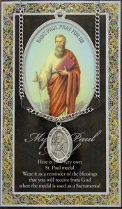 St. Paul Medal in Pewter with Bi-Fold Prayer Card [HPM041]