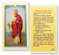 St. Paul Novena Laminated Prayer Cards 25 Pack [HPR512]
