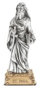 Saint Paul the Apostle Pewter Statue 4 Inch [HRST512]