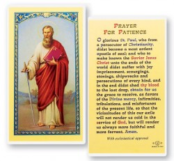 St. Paul Prayer For Patience Laminated Prayer Cards 25 Pack [HPR753]