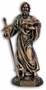 St. Paul Statue, Bronzed Resin - 8 inch [GSS039]