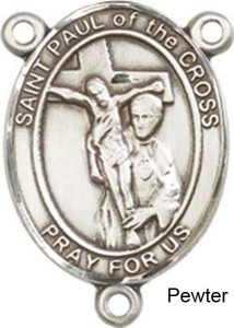St. Paul of the Cross Rosary Centerpiece Sterling Silver or Pewter [BLCR0416]