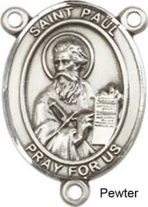 St. Paul the Apostle Rosary Centerpiece Sterling Silver or Pewter [BLCR0253]