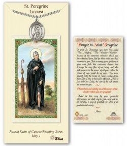 St. Peregrine Laziosi Medal in Pewter with Prayer Card [BLPCP032]