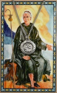 St. Peregrine Medal with Prayer Card [PC0108]