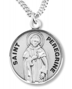 View all saint peregrine necklace saint peregrine medal with st peregrine medal ree0125 mozeypictures Image collections