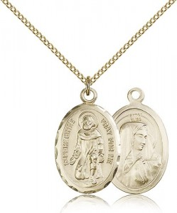 St. Peregrine Oval Shaped Medal [CM2095]