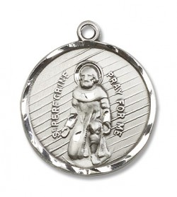 View all saint peregrine necklace saint peregrine medal with st peregrine medal cm2285 mozeypictures Image collections