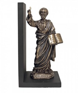 St. Peter Bookend, Bronzed Resin - 9.5 inch [GSS059]