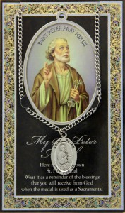 St. Peter Medal in Pewter with Bi-Fold Prayer Card [HPM043]