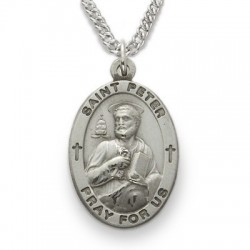 View all saint peter medal with necklace catholic faith store st peter medal sn227 aloadofball Images